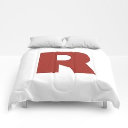 Letter R on White Comforters