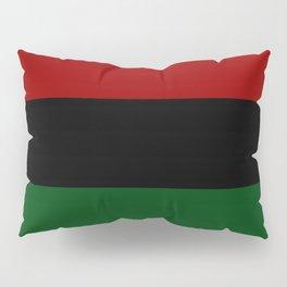 Pan African Flag - Red Black Green   Kwanzaa Pillow Sham