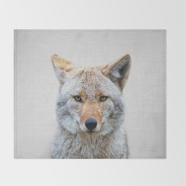 Coyote - Colorful Throw Blanket