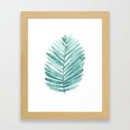 Green Palm Leaf Framed Art Print