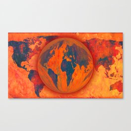 World on fire - 218 Canvas Print