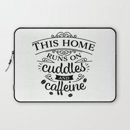 Cuddles And Caffeine B&W Laptop Sleeve