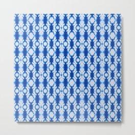 rotary tie-dye pattern in cobalt Metal Print