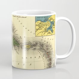 Vintage Map of The Caribbean (1898) Coffee Mug