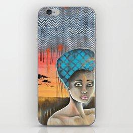 AFRICAN SUNSET iPhone Skin