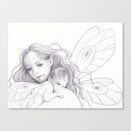 Fairy Mother and Baby Canvas Print