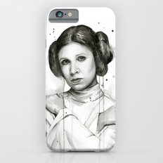 Princess Leia Watercolor Carrie Fisher Portrait Slim Case iPhone 6s