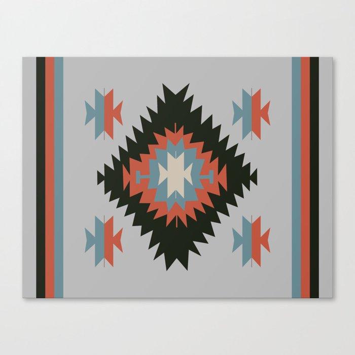 Canvas Santa Fe >> Southwestern Santa Fe Tribal Indian Pattern Canvas Print By Imagepixel
