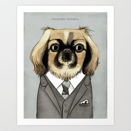 Mad Men Dogs: Pekingese Campbell Art Print