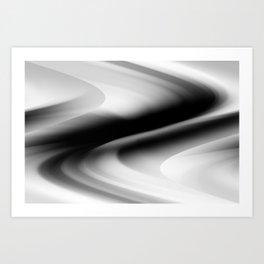 DREAM PATH (Black, Grays & White) Art Print