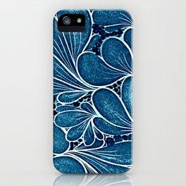 Blue leaf iPhone Case