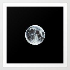 Full Moon Painting Art Print