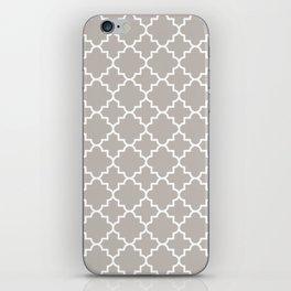 Classic Quatrefoil pattern, warm grey iPhone Skin