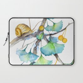 Ginkgo and A Snail Laptop Sleeve