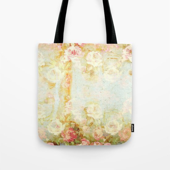 vintage roses and pastel tones Tote Bag