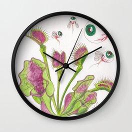 Venus Eye Trap Wall Clock