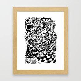 Antuan Rene Chaos style 2, Cuban chaotic art, Graphic Absurd, disorder Framed Art Print