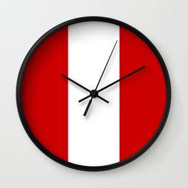 Flag of peru -Peruvian, Lima, latin america,america, quechua,aymara, andean, Arequipa,Piruw Wall Clock
