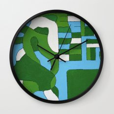 Green Map Wall Clock