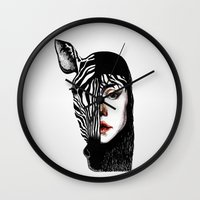 twins Wall Clocks featuring Twins by SilviaGancheva