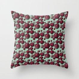 Jamun - Bubble beads J of Alphabet collection Throw Pillow