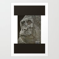 ape Art Prints featuring Ape  by Stayartlife Studio