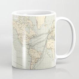 Geographical-Statistical World Lexicon (1888) by Emil Metzger Coffee Mug