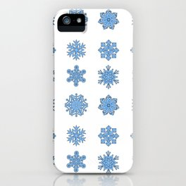 Snowflake Pattern Christmas Winter Snow Gift Design iPhone Case