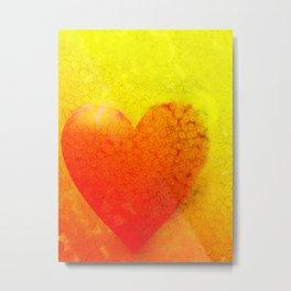 Yellow Heart Metal Print