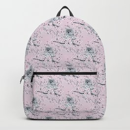 Cute Owl and Cherry Blossoms Pink Gray Backpack