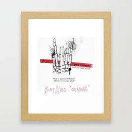 "Biffy Clyro - ""on a bang"" Framed Art Print"