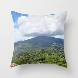 East peak view from Mt Britton at 3,000 feet - El Yunque rainforest PR Throw Pillow