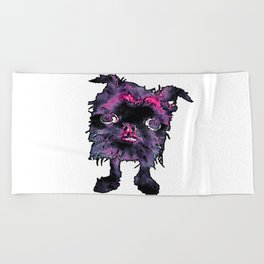 Lugga The Friendly Hairball Monster For Ghouls Beach Towel