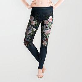 Moody floral on velvet Leggings