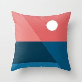 Geometric Landscape 11 Throw Pillow