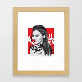 Kendall Jenner Framed Art Print