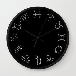 Zodiac Constellation Wall Clock
