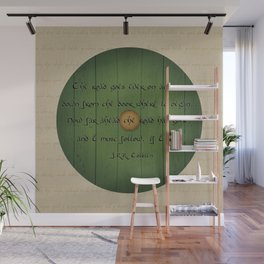 The Road Goes Ever On - Green Door Wall Mural