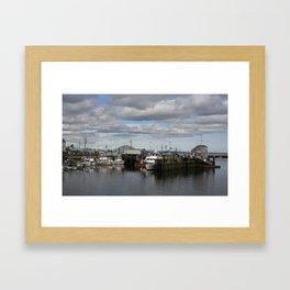 Northeastern Dock Framed Art Print