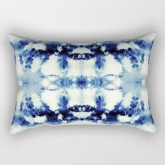 Tie Dye Blues Rectangular Pillow
