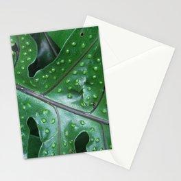 polka dot leaf Stationery Cards
