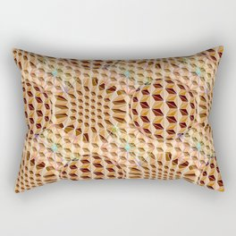 Geodesic Asanoha (Wooden) Rectangular Pillow