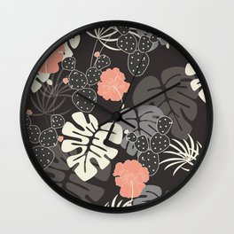 Tropical pattern 056 Wall Clock