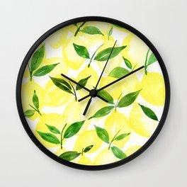 Happy Citrus Wall Clock