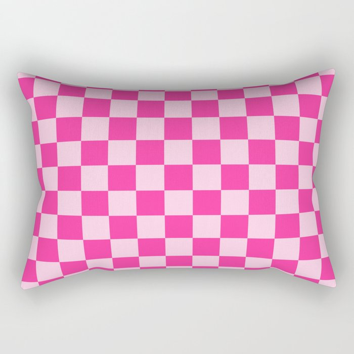 Double Pink Check - more colors Rectangular Pillow