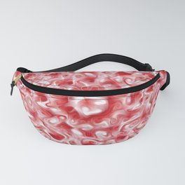 Abstract Red and Pink Swirls Fanny Pack