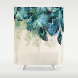 Beautiful Peacock Feathers Shower Curtain