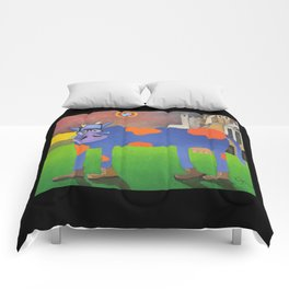 Udderly Frank - Funny Cow Art Comforters