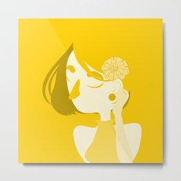 "Color Girl Series: ""Marigold"" Metal Print"