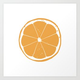 Orange Slice Print and Pattern Art Print